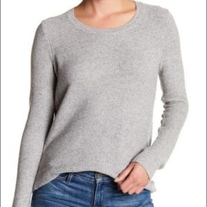 Madewell riverside textured grey sweater M